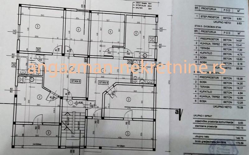 Kaluđerica – Željka Milivojevića 75kvm(L) ID#13436